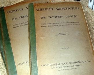Books, American Architecture of the 20th Century, 1920's, Architectural Plates, Folios