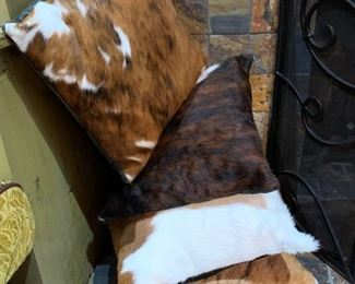 3. Durham Trading and Design Co. Cowhide Pillows