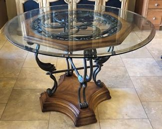 Dining Table Beveled Glass Top