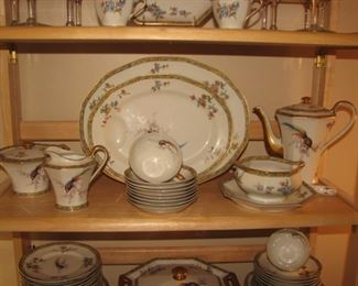 Haviland Limoges Bamboo pattern dinnerware