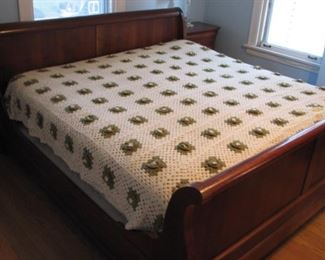Crocheted coverlet