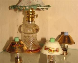 Vintage Miniature Lamp Perfume Bottles