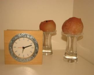 Lenox crystal candle holders