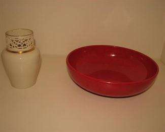 Lenox pierced vase