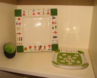 Mahjong platter, mahjong plates