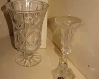 Block Crystal vase, St. Louis Crystal