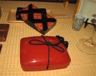 Red lacquerware box