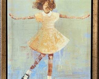 Rebecca Kinkead Giclee Entitled TWIRL, a Young Girl Dancing