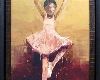 Rare Rebecca Kinkead Lithograph Entitled Dancer 6 (Young Ballerina)