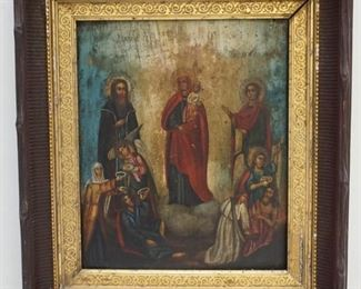 """18th Century Icon on Wood Panel,  20"""" Tall , Estate of Dr. Fraser Wilson Charleston SC - PERFECT CHRISTMAS GIFT!"""