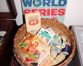 Vintage Sewing,  Milwaukee Braves World Series program