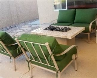 Fire Table and Patio Furniture
