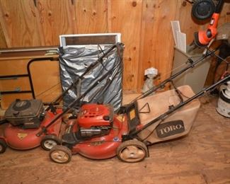 "Homelite 4 hp mower, Toro 22"" lawn mower"