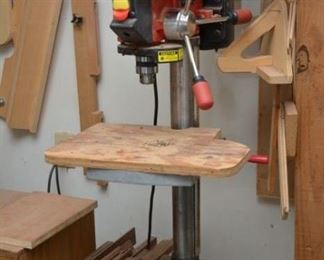 """Tradesman 12"""" 12 speed bench drill press and numerous accessories"""