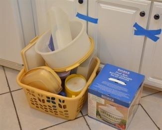 Some Tupperware, battery operated salad spinner