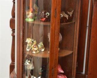 small curio, miscellaneous figurines