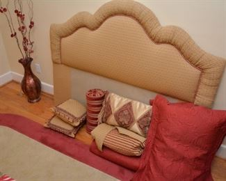 Hollywood headboard, complete bed ensemble - comforter, pillow shams, pillows