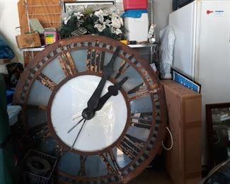 """antique clock face, measuring 62 1/2"""" in diameter"""