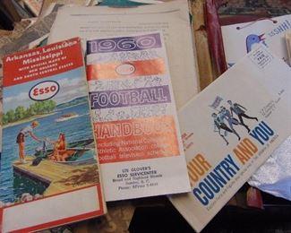 Vintage Esso Gas Station Items