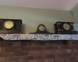 various mantel clocks