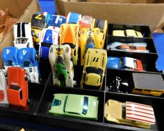 Vintage HO scale slot cars