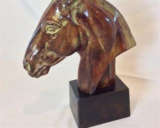 "Horse Bust, 14"" H."