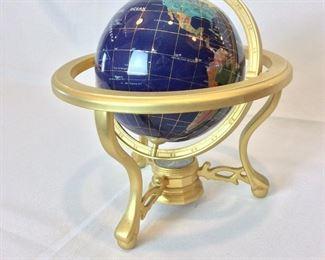 "World Globe, 10"" H."