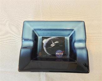 """NASA Space Shuttle Ash Tray, 6 1/2"""" x 5 1/2""""."""