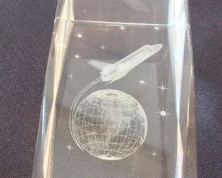 """NASA Space Shuttle Paperweight, 3"""" H."""
