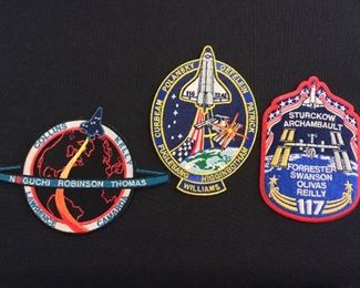 NASA Space Shuttle Mission Patches.