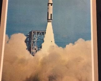 Lockheed Polaris Fleet Ballistic Missile Poster circa 1950's.