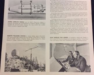 Lockheed Agena Satellite System - USAF Discoverer Program Poster.