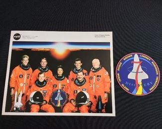 NASA Space Shuttle STS-95 Mission Photo/Bio, Mission Decal, and Mission Cards (not shown). John Glenn Return to Space.