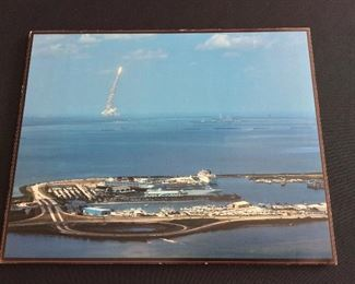 Space Shuttle Launch Above Port Canaveral.