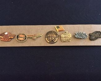 Harley-Davidson and Daytona Bike Week Pins.