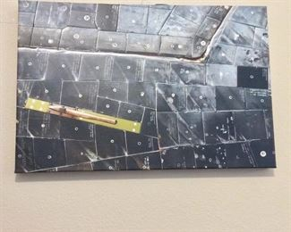NASA Space Shuttle Photo of Tiles printed on canvas.