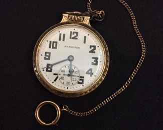 Pocket Watch - Hamilton Watch Co. U.S.A. Movement Serial Number C68341.Grade 992B. Size 16s. Jewels 21j. Wadsworth 10k Gold Filled Back.