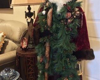 St. Nicholas, Santa, signed , 5'H.