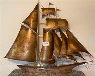 003 Large Brass Sailing Ship