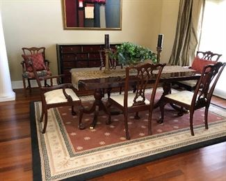 https://www.ebay.com/itm/114000126187  BG0001A Traditional Dinning Room Table with 2 Leafs Local Pickup $299        BG0001B 5 Modern Dinning Room Chairs Red Mahogany with White Clothe Seats Local Pickup $249.99  https://www.ebay.com/itm/114000128876
