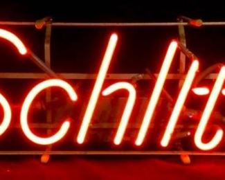 Vintage Neon Schlitz Beer Sign