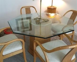 post modern table and four chairs