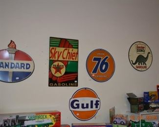 Reproduction collector signs