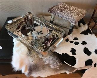 REINDEER AND COW HIDES