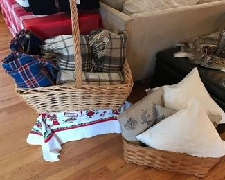 PENDELTON  WOOL PILLOWS AND BLANKETS