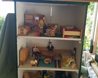 Wood dollhouse