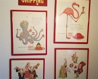 1954 and 1955 Jello ads