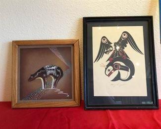 2 small Native American artwork