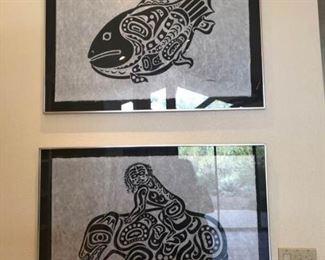 2 large prints by C. B. Greul