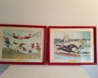 Circus lithographs
